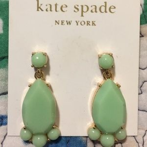 Kate Spade mint dangle earrings